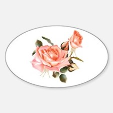 Beautiful Victorian Roses Sticker (Oval)