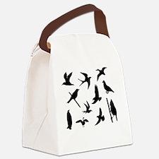 Cute Birds silhouette Canvas Lunch Bag