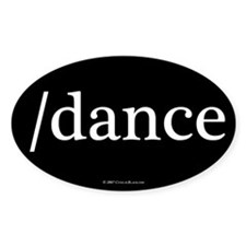 /dance Oval Decal