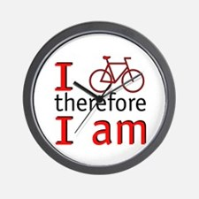 I Bike Therefore I Am Wall Clock