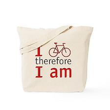 I Bike Therefore I Am Tote Bag