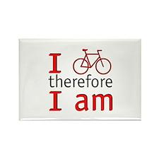 I Bike Therefore I Am Rectangle Magnet