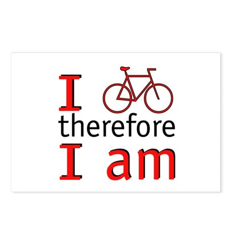 I Bike Therefore I Am Postcards (Package of 8)