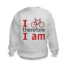 I Bike Therefore I Am Sweatshirt