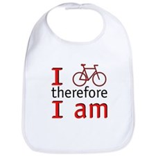 I Bike Therefore I Am Bib