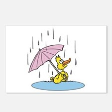 Ducky With Unbrella Postcards (Package of 8)