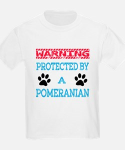 Warning Protected by a Pomerani T-Shirt