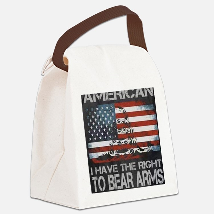 Cute Patriot Canvas Lunch Bag
