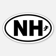 New Hampshire Skiing Oval Decal