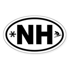 Ski New Hampshire Oval Decal
