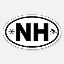 Ski New Hampshire Oval Decal