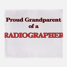 Proud Grandparent of a Radiographer Throw Blanket