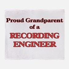 Proud Grandparent of a Recording Eng Throw Blanket