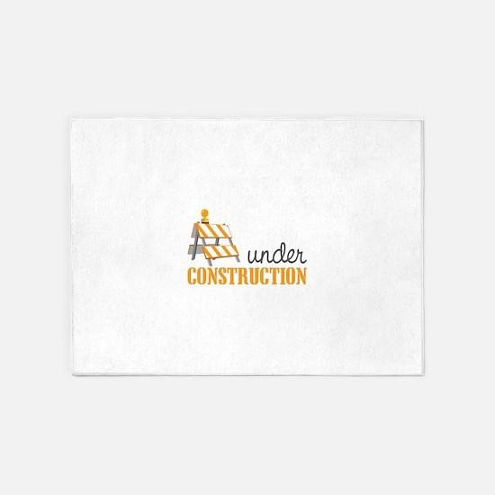 Under Construction 5'x7'Area Rug