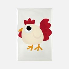 Funny White Chicken Magnets