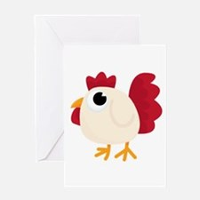 Easter Funny White Chicken Greeting Cards