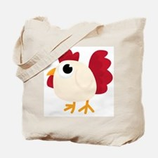 Funny White Chicken Tote Bag