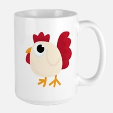 Funny White Chicken Mugs