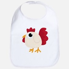 Funny White Chicken Bib