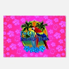 Pink Hibiscus Island Time Sunset Postcards (Packag