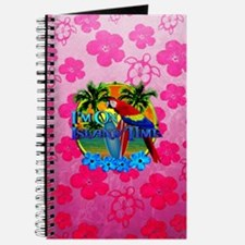 Pink Hibiscus Island Time Sunset Journal