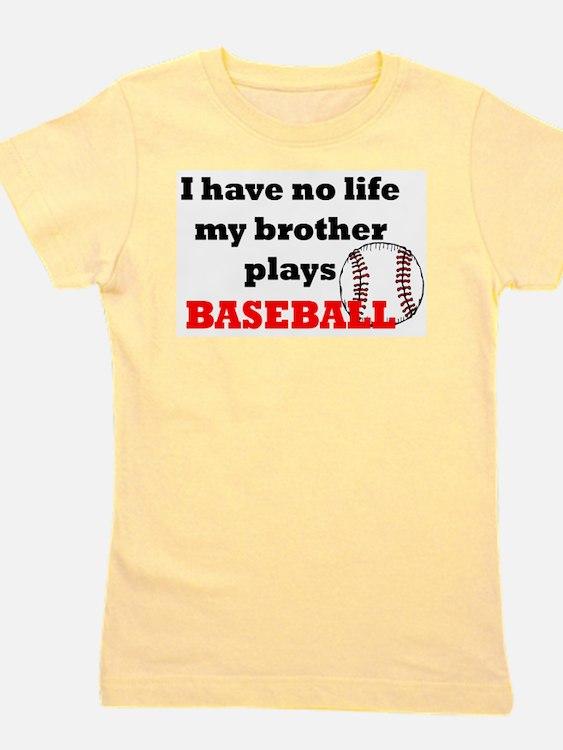 Cute Little brother baseball Girl's Tee