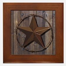 Cute Lone star Framed Tile