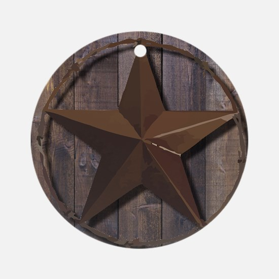 Cute Lone star Round Ornament