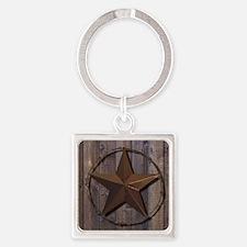 Cute Lone star Square Keychain