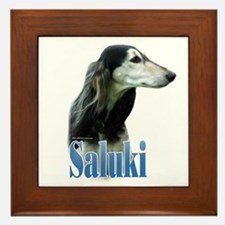 Saluki(tri) Name Framed Tile