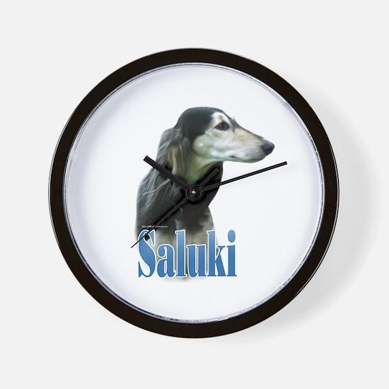 Saluki(tri) Name Wall Clock
