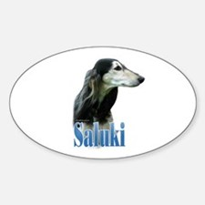Saluki(tri) Name Oval Decal