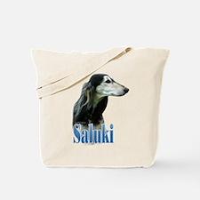 Saluki(tri) Name Tote Bag