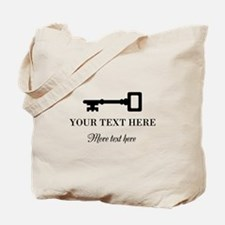 Old Vintage Key Tote Bag With Custom Text