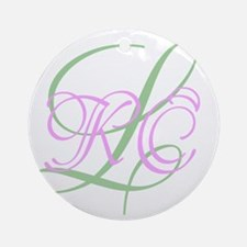 Personalized Monogram Your Text Original Round Orn