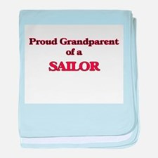 Proud Grandparent of a Sailor baby blanket