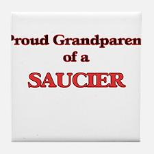 Proud Grandparent of a Saucier Tile Coaster