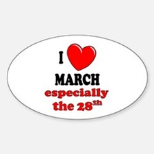 March 28th Oval Decal