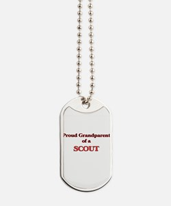 Proud Grandparent of a Scout Dog Tags
