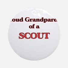 Proud Grandparent of a Scout Round Ornament