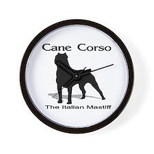 Cane Corso BW Wall Clock