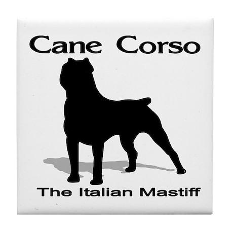 Cane Corso BW Tile Coaster