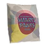 Smart Burlap Throw Pillow