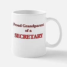 Proud Grandparent of a Secretary Mugs