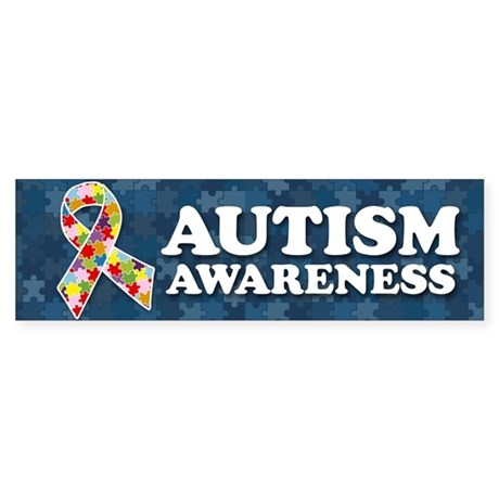 Autism Awareness Bumper Bumper Sticker By Cpautismawareness