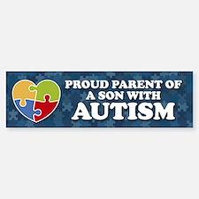 Proud Parent of Son with Autism Bumper Bumper Bumper Sticker