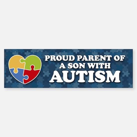 Proud Parent of Son with Autism Bumper Car Car Sticker
