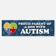 Proud Parent of Son with Autism Bumper Stickers