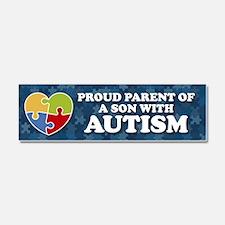 Proud Parent of Son with Autism Car Magnet 10 x 3