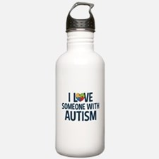 Love Someone with Autism Water Bottle